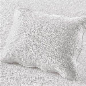 Stenciled Leaves Standard Pillow Sham